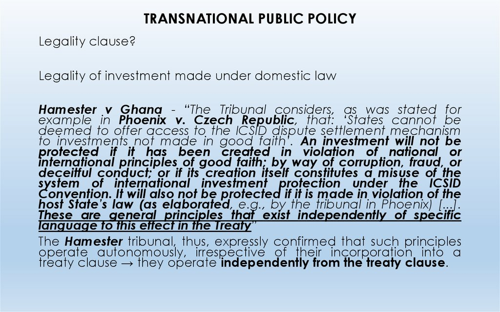 TRANSNATIONAL PUBLIC POLICY