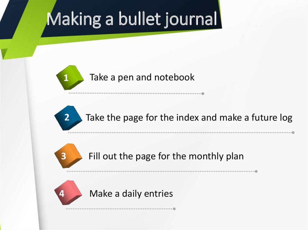 Making a bullet journal