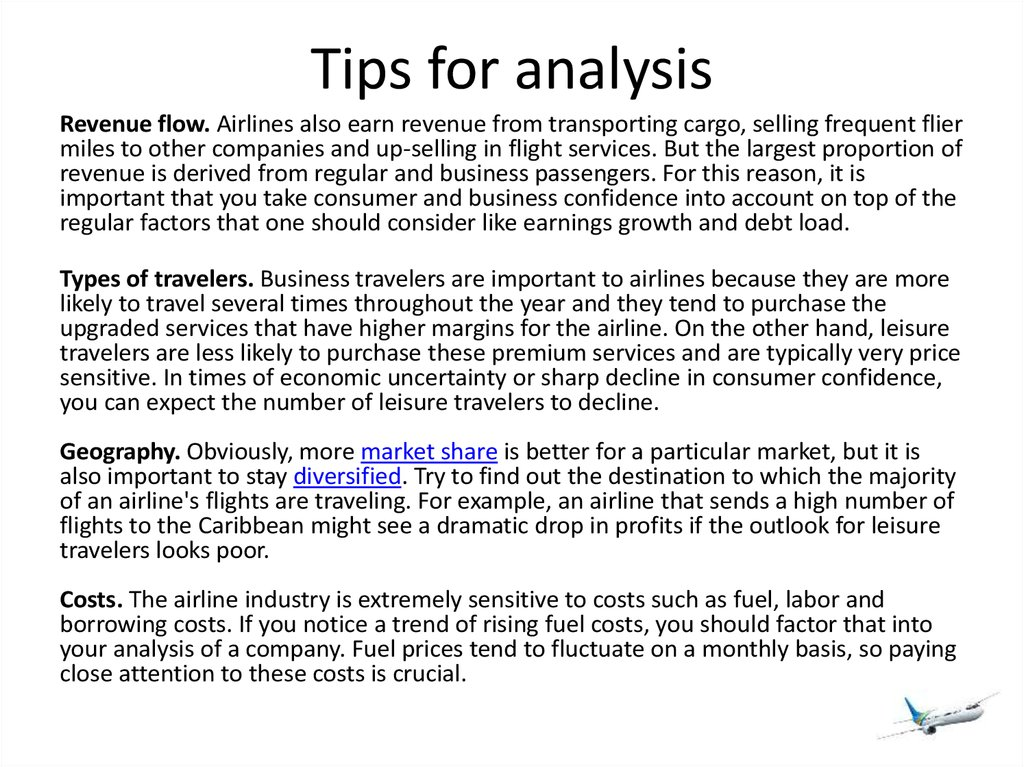 Tips for analysis