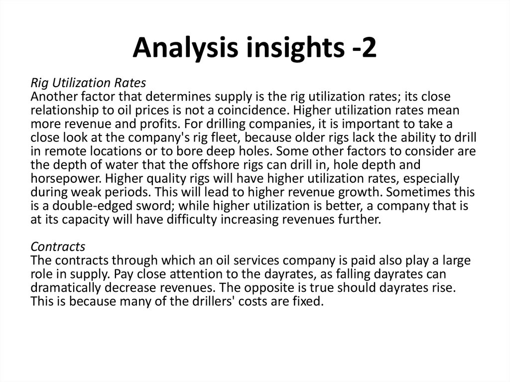 Analysis insights -2