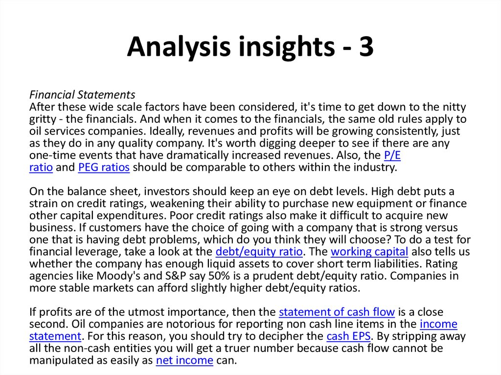 Analysis insights - 3