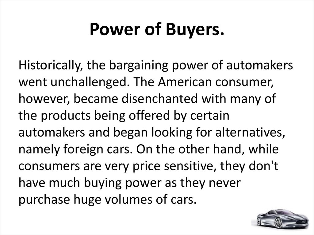 Power of Buyers.