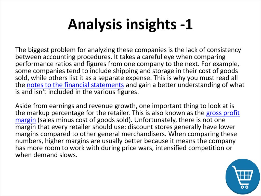 Analysis insights -1