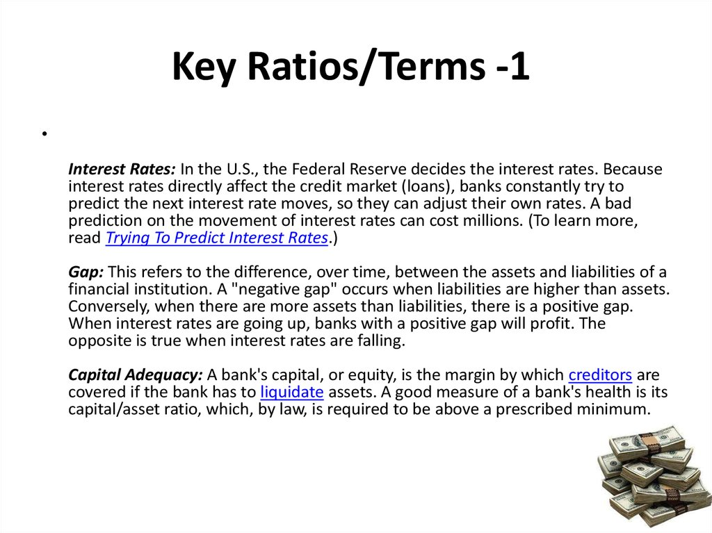 Key Ratios/Terms -1