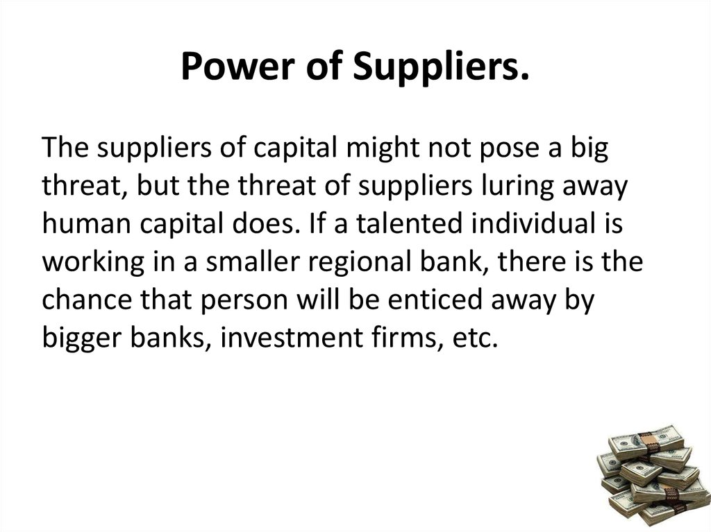 Power of Suppliers.
