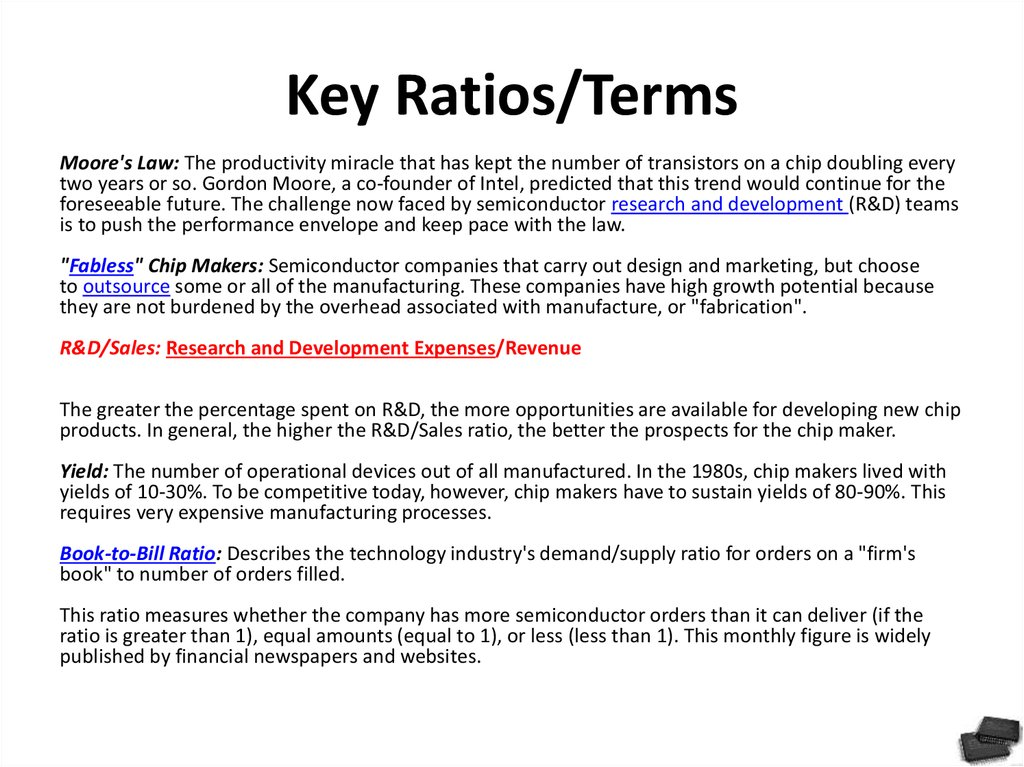 Key Ratios/Terms