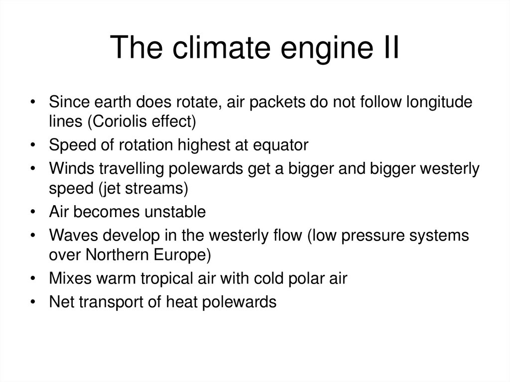 The climate engine II