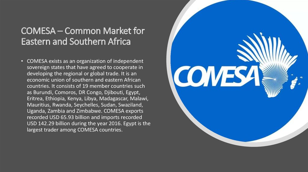 COMESA – Common Market for Eastern and Southern Africa