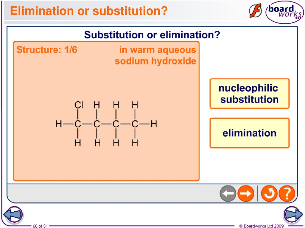 Elimination or substitution?