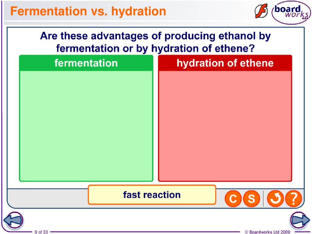 Fermentation vs. hydration