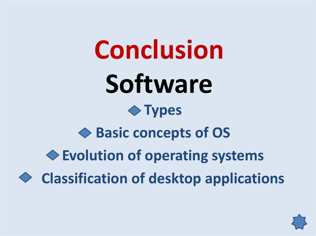Conclusion Software