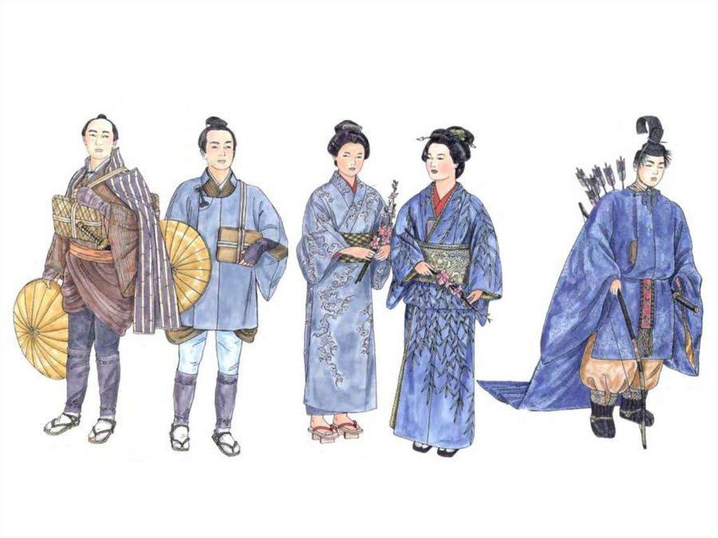 Одежда древней японии картинки