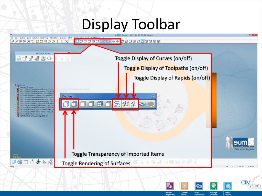 Display Toolbar