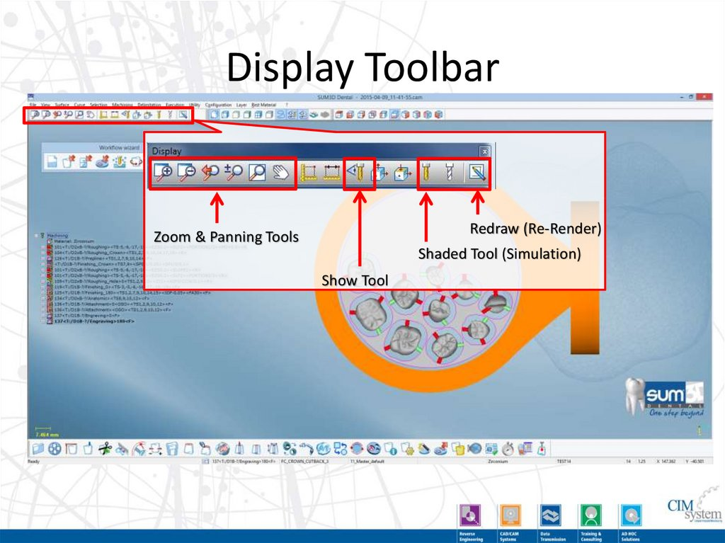 Display Toolbar (Detailed)
