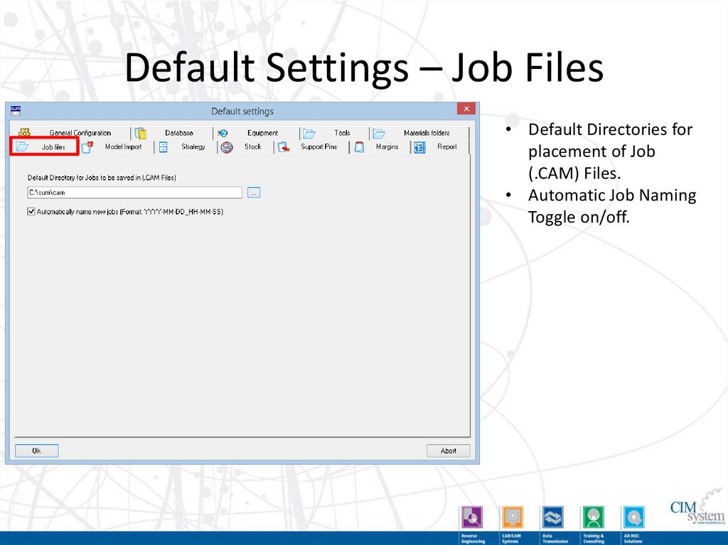 Default Settings – Margins
