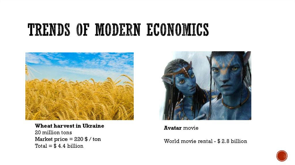 Trends of modern economics