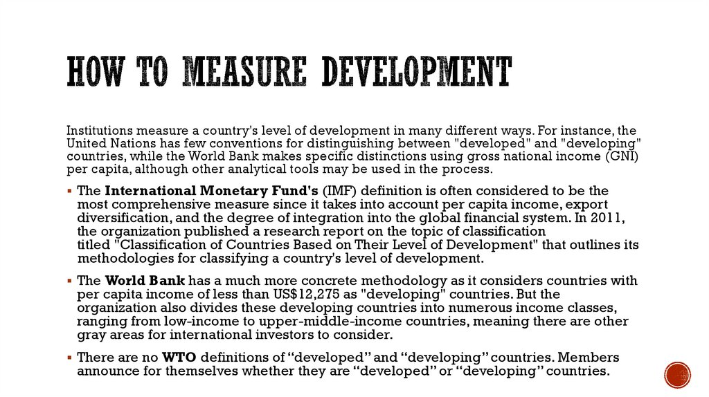 How to Measure Development