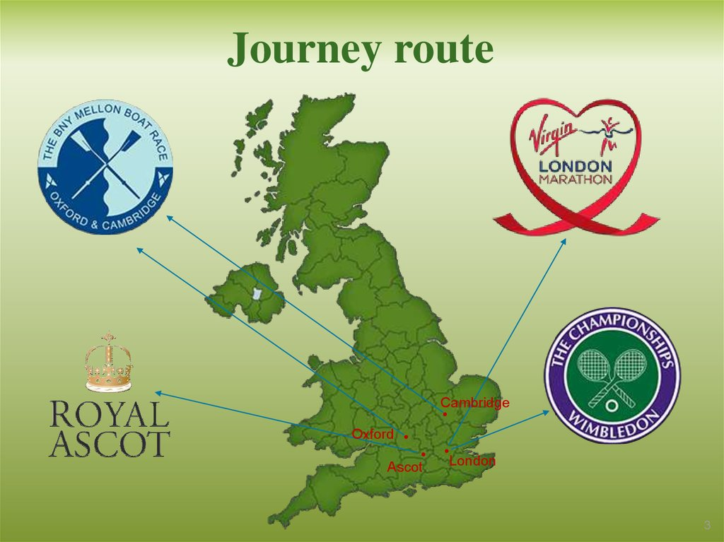 Journey route