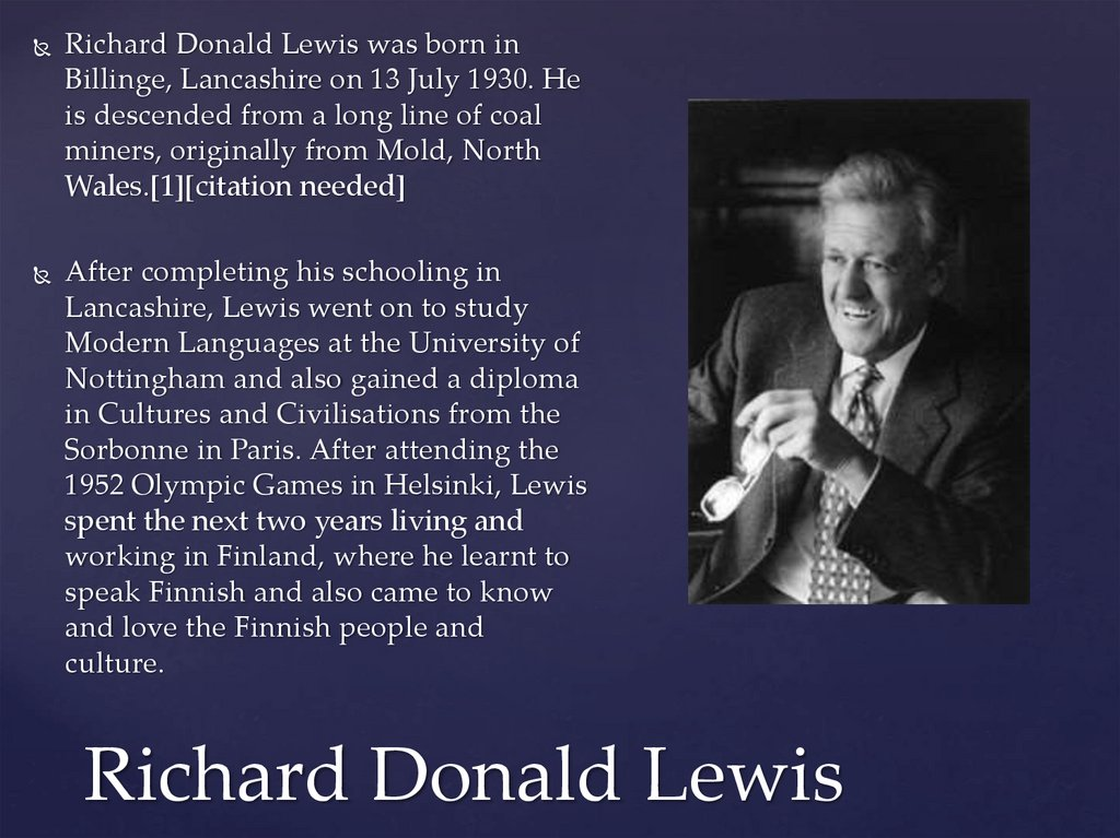 Richard Donald Lewis