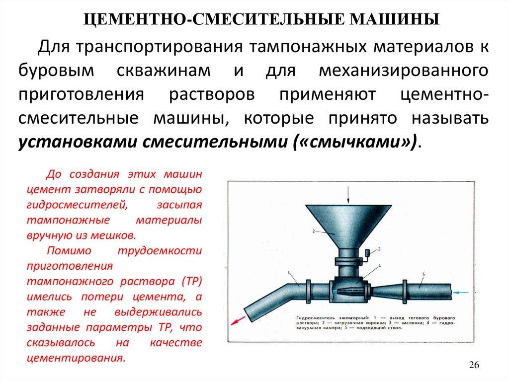 приготовление тампонажного цементного раствора