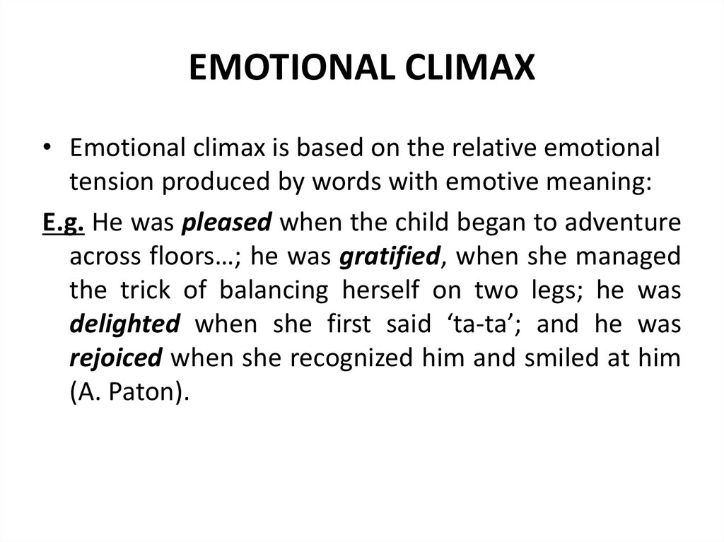 EMOTIONAL CLIMAX