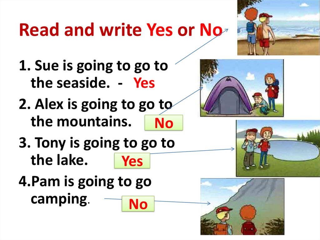 Read and write Yes or No