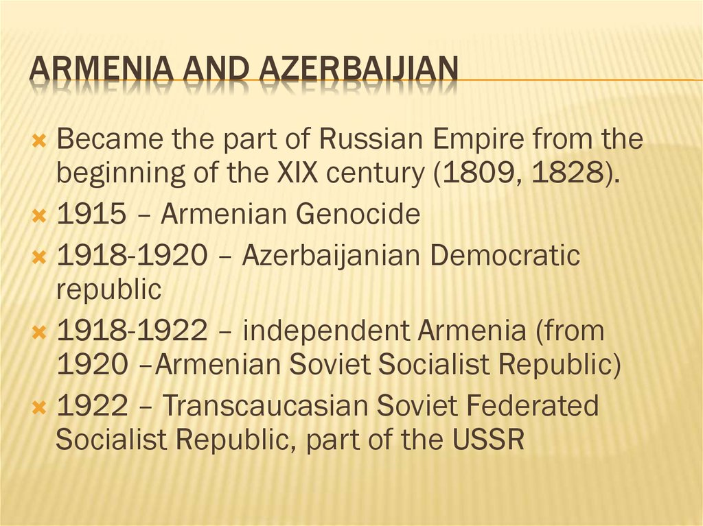 Armenia and Azerbaijian