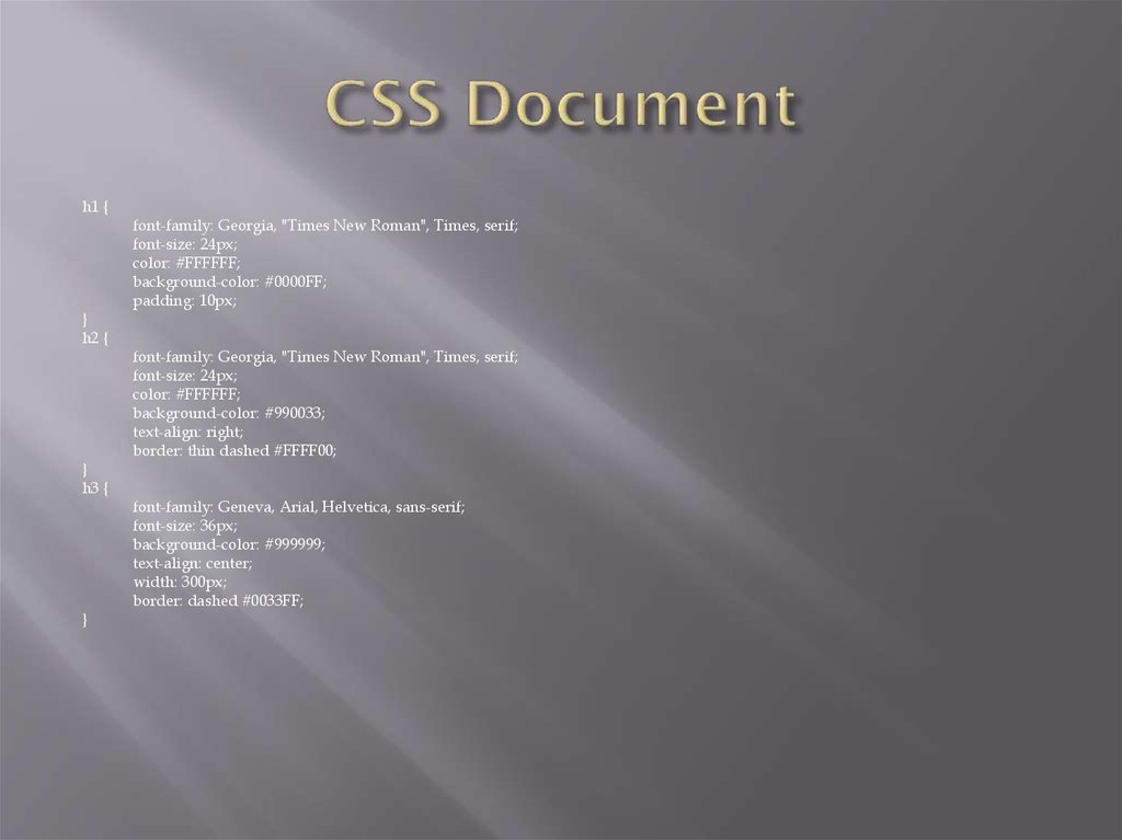 CSS Document