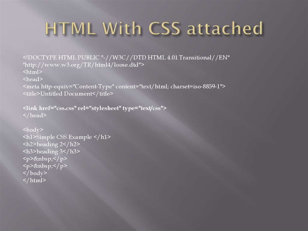 HTML With CSS attached