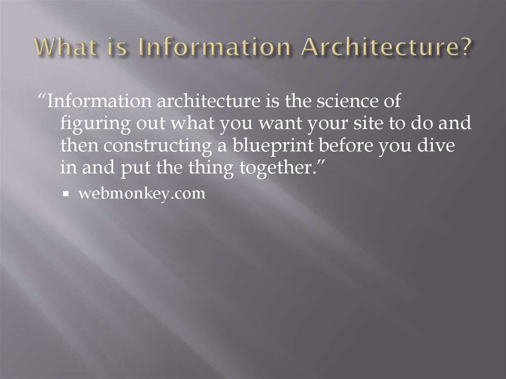 What is Information Architecture?