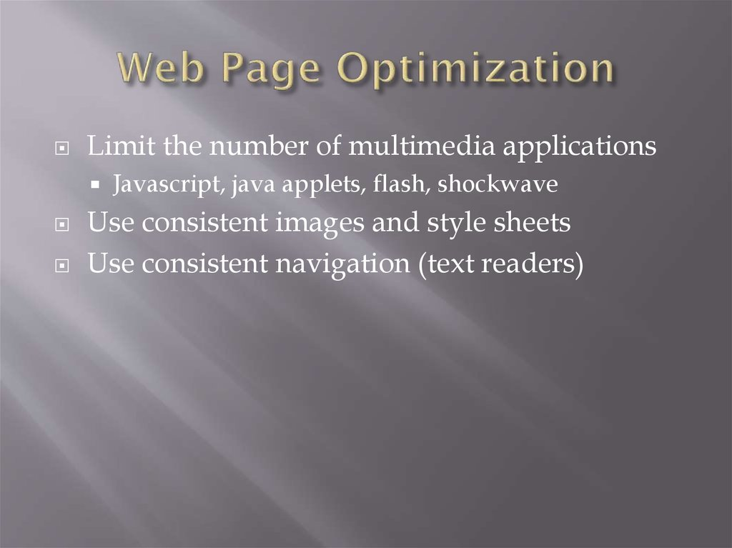 Web Page Optimization