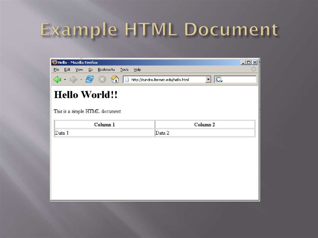 Example HTML Document