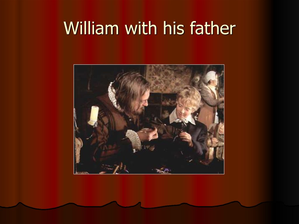 William with his father