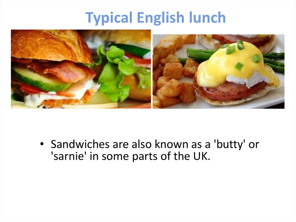 Typical English lunch