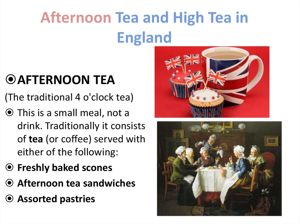 Afternoon Tea and High Tea in England