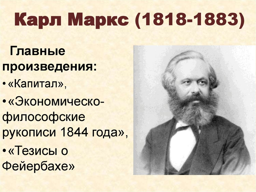 Карл Маркс (1818-1883)