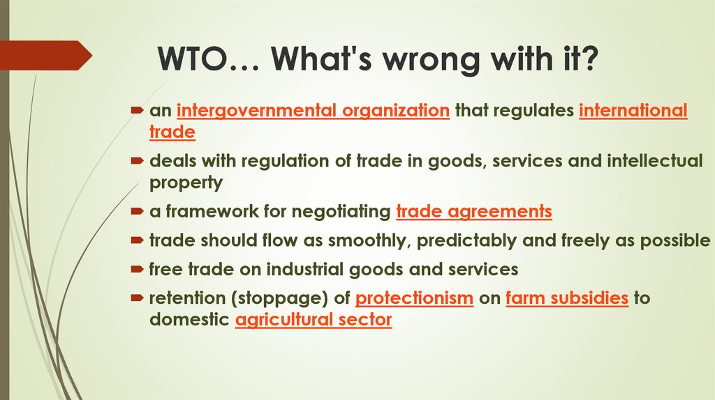 WTO… What's wrong with it?