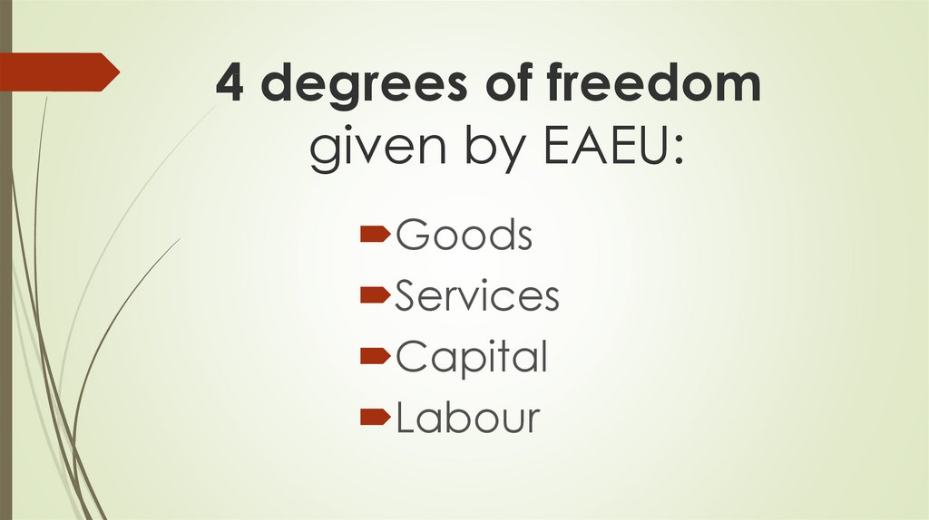 4 degrees of freedom given by EAEU: