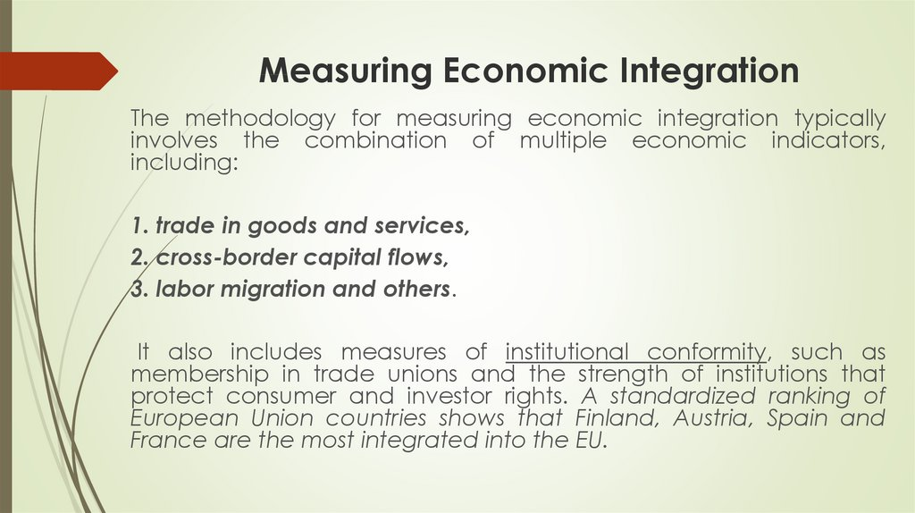 Measuring Economic Integration
