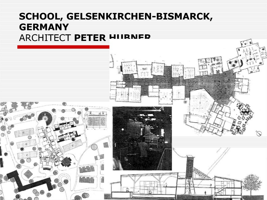 SCHOOL, GELSENKIRCHEN-BISMARCK, GERMANY ARCHITECT PETER HUBNER