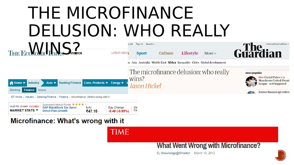The microfinance delusion: who really wins?