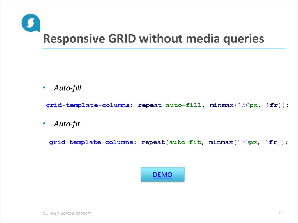 Responsive GRID without media queries