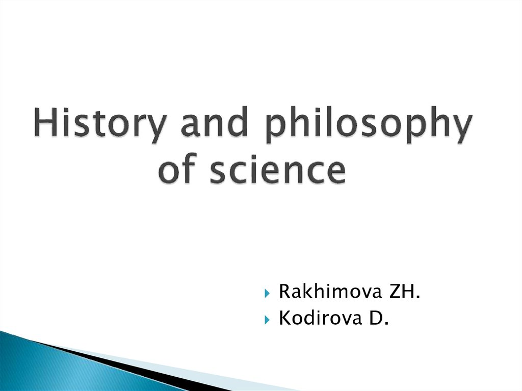 History and philosophy of science
