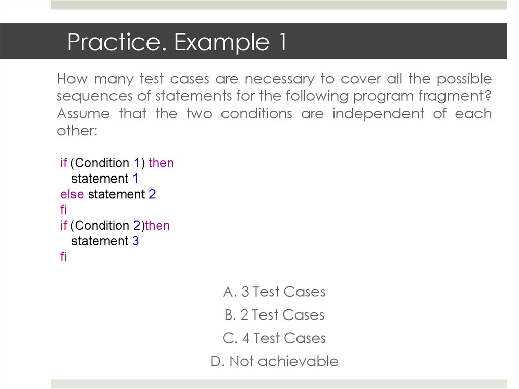 White-box testing - online presentation