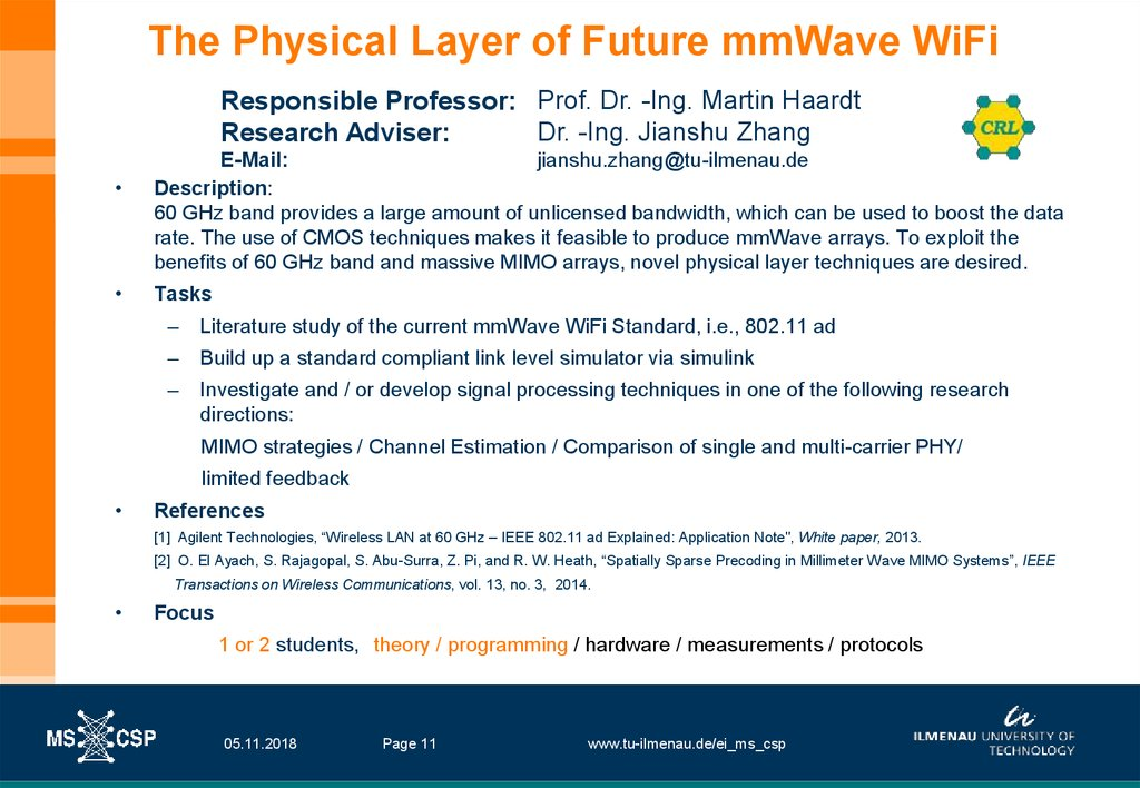 The Physical Layer of Future mmWave WiFi