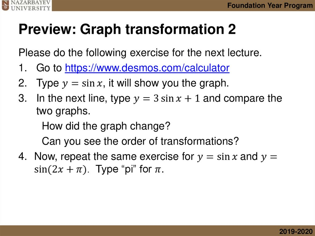 Preview: Graph transformation 2