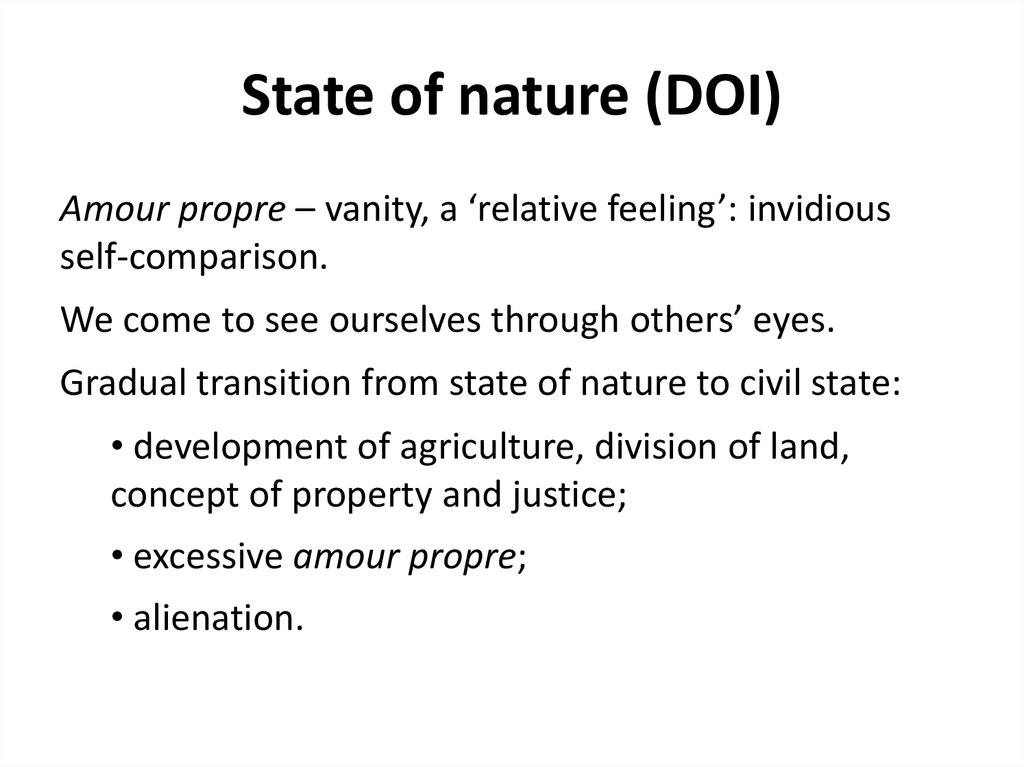 State of nature (DOI)