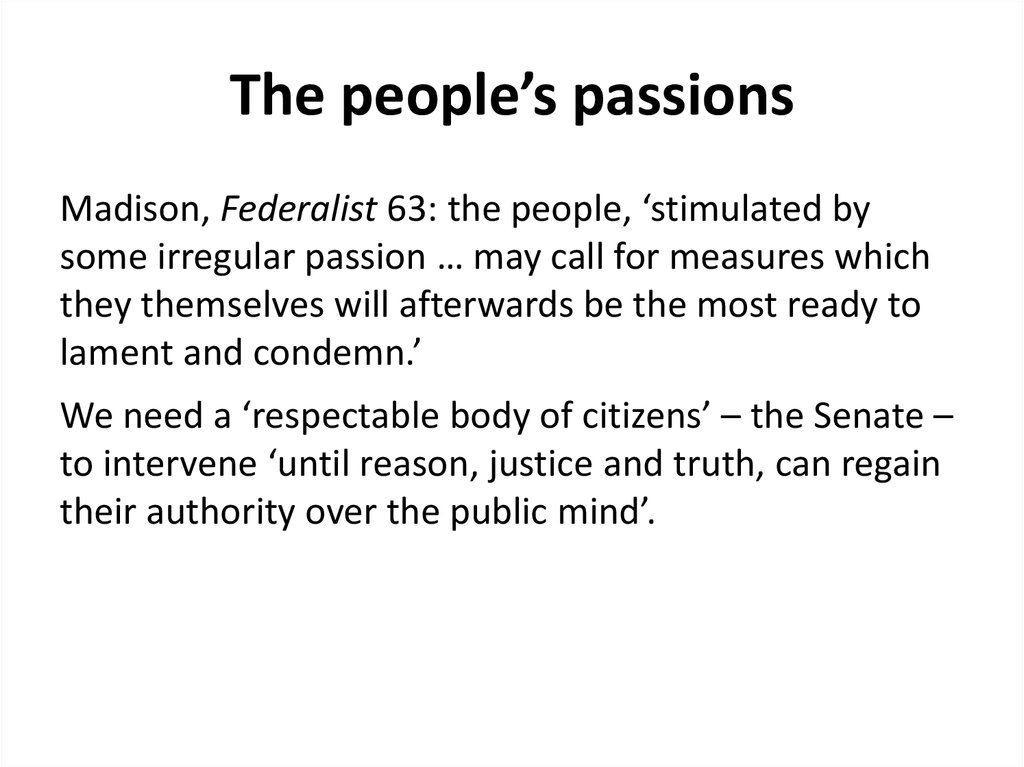 The people's passions