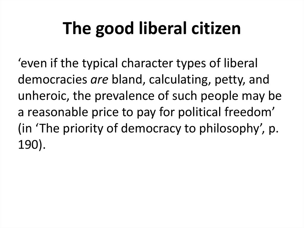 The good liberal citizen