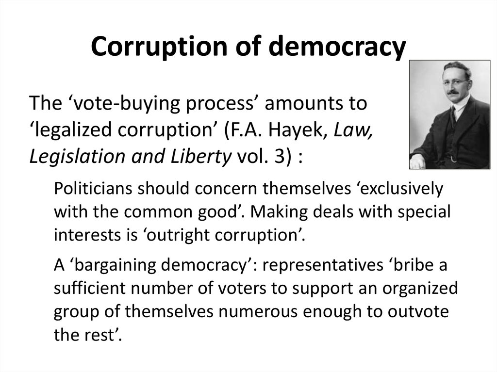 Corruption of democracy